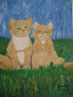 la pareja de gatos -los dibujos de jose angel barbado