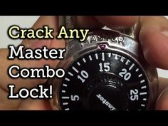 Crack any master combo lock - Mind Blown