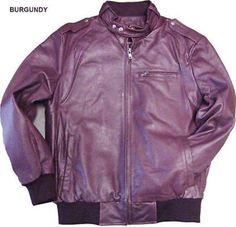 SKU#KA9845 Mens Leather Bomber Jacket Soft Lambskin Burgundy ~ Maroon ~ Wine Color tanners avenue jacket