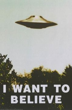 Don't beafraid to Believe! An awesome UFOposter - just like the one in Fox Mulder's office on the X-Files!Fully licensed. Ships fast. 24x36 inches. The Truth