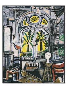 The Studio, 1955 by Pablo Picasso (Framed) by McGaw Graphics | multi | Gilt