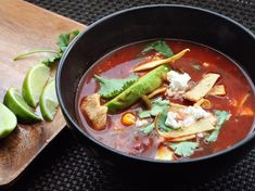 One-Pot Wonders: Tortilla Soup With Chicken and Avocado
