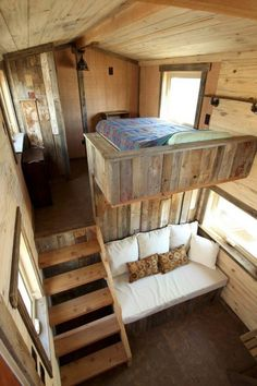 Architecture with a Tiny House on Wheels Master Bedroom and Living Room. Sustainable Architecture with a Tiny House on Wheels. By SimBLISSity.By By or BY may refer to: