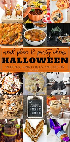 From creepy and spooky to just good ol' not-so-scary fall comfort food, we've got your little ghosts and goblins covered for a Halloween Meal Plan. In this collection of some of the best recipes for Halloween Night, you'll find great recipes from appetizers and desserts to dinners and decor! details at TidyMom.net via @tidymom