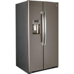 GE Adora 25.9 cu. ft. Side by Side Refrigerator in Slate-DSE26JMEES at The Home Depot