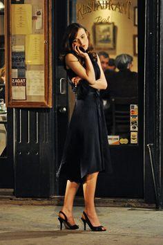 "Keira Knightley on the set of ""Last Night"""