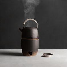 Boiling Kettle/Kettle and stove,Crude pottery tea set Ceramic Tableware, Porcelain Ceramics, Ceramic Pottery, Porcelain Jewelry, Japanese Ceramics, Japanese Pottery, Tea Warmer, Tea Culture, Tadelakt