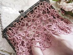 Tatted detail on purse (1) From: Eglantyne, please visit