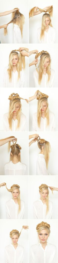 DIY Rope Braid Updo via oncewed.com