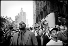 We published an image by freelance photographer Patrick Witty that for me best evokes that tumultuous morning. It is 9:59 a.m. and New Yorkers witness the collapse of the South Tower. Their reaction was mine