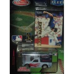 Minnesota Twins 1999 MLB Diecast 1:64 Scale Ford F-150 Pickup Truck with Brad Radke Fleer Card Baseball Team White Rose Collectible by MLB  $12.79
