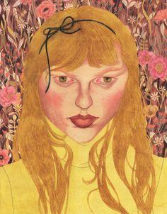 Riikka Sormunen. Kind of a Frida Kahlo meets Gustav Klimt
