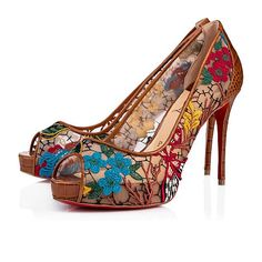 ab01c2466238 Shoes - Very Lace 100 Rete guipure Butterfly calf Nil - Christian Louboutin