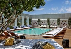 A hip West Hollywood hotel with an acclaimed restaurant and buzzed-about pool - includes cocktails
