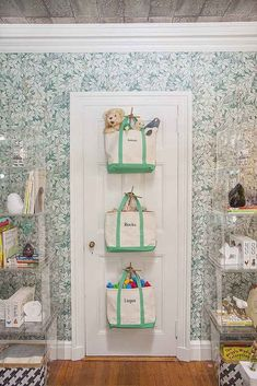 Use tote bags in place of toy bins. | 49 Clever Storage Solutions For Living With Kids