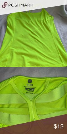 71c74f116fd22 Active wear tank Highlighter Neon Yellow. 🎾 Built in support bra. Old