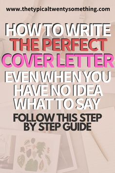 Cover Letter Help, Great Cover Letters, Perfect Cover Letter, Writing A Cover Letter, Cover Letter For Resume, Resume Cover Letter Examples, Job Interview Preparation, Job Interview Tips, Resume Advice