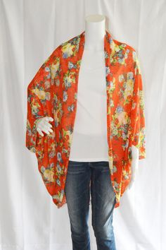 New Floral Chiffon Cocoon Wrap! Wrap up with this Cardigan for ...