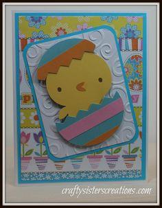 Cute Easter card for a child using Create a Critter 2 Cricut cartridge! www.craftysisterscreations.com