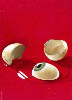 eye yolk, cover artwork by enric torres prat Psychedelic Art, Art Sketches, Art Drawings, Easter Drawings, Arte Indie, Illustration Art, Illustrations, Weird Art, Eye Art