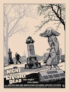 "Night of the Living Dead - movie poster......ONE OF MY FAVORITE HORROR MOVIES.............REMEMBER ....""THEIR COMING TO GET YOU BARBARA""....LOL"