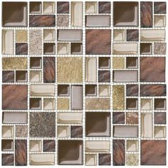 Jeffrey Court - Native Ocean 11-3/4 in. x 11-3/4 in. Glass and Quartz Mosaic Wall Tile - 99659 - Home Depot Canada