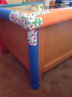 Make Tables Safe For Toddlers Using A Pool Noodle Toy