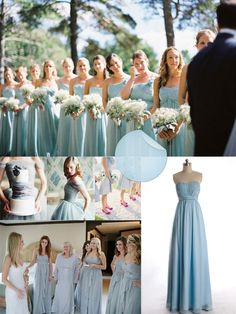 Powder Blue Bridesmaid Dresses LOVE this colour!
