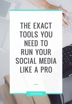Looking for better and more effective ways to run your social media? Avoid the trial and error and click through for the exact tools you need run your social media like a pro.