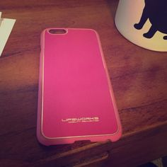 iPhone 6 phone case Pink and super thin phone case for the iPhone 6. Has a few scratches but not very noticeable LifeWorks Accessories Phone Cases