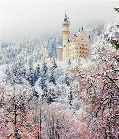 Neuschwanstein Castle, Bavaria, Germany, Alps.: Most beautiful houses in the world