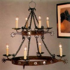 I REALLY LIKE THIS ONE! Double Tier Spur Chandelier @  Rocky Mountain Cabin Decor