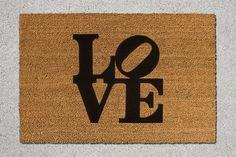 Robert Indiana Love Doormat Home Doormat Home by TheDoormatory