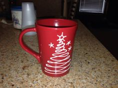 Cute Christmas mug! Could easily be DIY for a gift