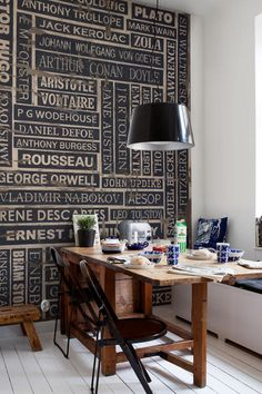 Thinking In Ink Wall Mural - Wallpaper