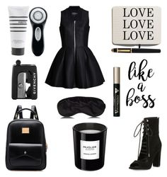 """""""Back to school: Rocker"""" by bebe-gawddess ❤ liked on Polyvore featuring Lavinia Cadar, Kendall + Kylie, Shinola, Cartier, Thierry Mugler, Pirette, Clarisonic, Givenchy and L'Oréal Paris"""