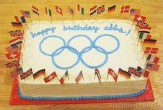 Easy cake idea-  Olympics cake