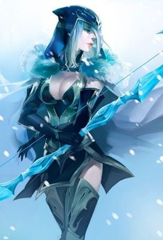 Ashe - League of Legends Fan Art. League of Pictures is a website where you can find League of Legends fan art, cosplay and more! Lol League Of Legends, League Of Legends Characters, Cosplay League Of Legends, Anime Fantasy, Fantasy Girl, Final Fantasy, Adc Wallpaper, Fanart, Fantasy Characters