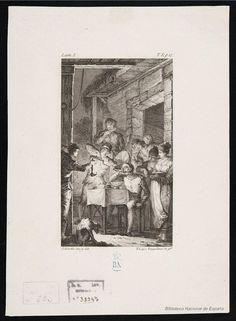 [Don Quijote come en la venta]. López Enguídanos, Tomás 1773-1814 — Grabado — 1819