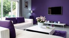 Purple with white interior can make your living most trendy, most classy ever you think..!