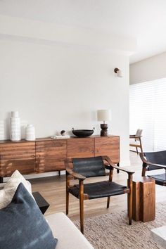 my scandinavian home: Make-over: Miami Penthouse Before & After Living Room Styles, Living Room Designs, Living Room Decor, Living Rooms, Wood Furniture Living Room, Plywood Furniture, House Rooms, Living Area, Bedroom Decor