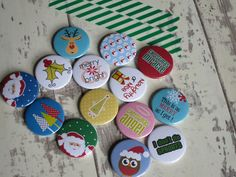 Someone ordered Christmas badges today. Is that super efficiency? Felt weird making them in the middle of summer :)
