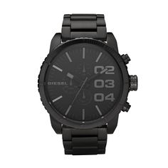 Diesel Watch, Chronograph Black Ion Plated Stainless Steel Bracelet - All Watches - Jewelry & Watches - Macy's Stainless Steel Watch, Stainless Steel Bracelet, Tommy Hilfiger, Diesel Watches For Men, Watch Sale, Cool Watches, Men's Watches, Latest Watches, Modern Watches