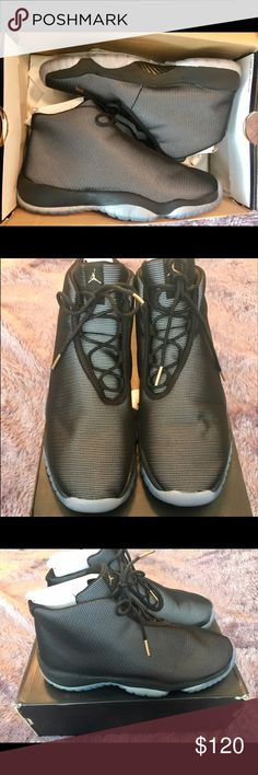 Nike Air Jordan Future Black and Clear Sz 6.5Y Worn twice, still in great condition, slight damage to the box  ✅Open To Reasonable Offers  💢No Trades  All Items Come From A  Smoke & Pet Free Home‼️  Please refer to pics📷  Any Questions Just Ask 😁  ⚠️Please check out my other listings  THANK YOU⚠️ Jordan Shoes Sneakers