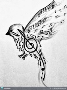 Singing%20Bird%20Flying%20Around...%20#Art #Touchtalent