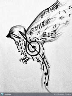 Singing%20Bird%20Flying%20Around...%20#Art #Touchtalent