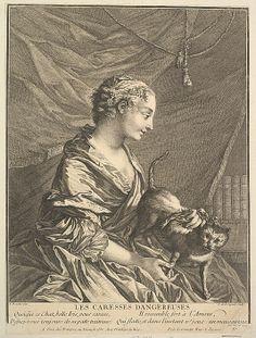 Joseph de Longueil (French, 1730–1792). Dangerous Caresses. The Metropolitan Museum of Art, New York. Harris Brisbane Dick Fund, 1953 (53.600.1023) #cats
