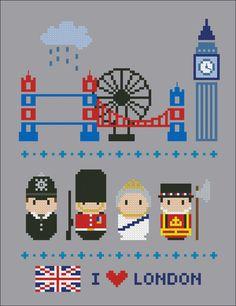 Icônes de Londres Mini personnes dans le monde par cloudsfactory