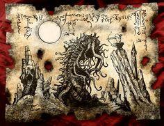 SLAYER of the WORM cthulhu larp Necronomicon Fragment by zarono Hp Lovecraft, Fantasy Wizard, Fantasy Art, Larp, Necronomicon Lovecraft, Lovecraftian Horror, Satanic Art, Dark Artwork, Call Of Cthulhu