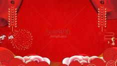 Red festival Chinese New Year background Chinese, new year, new year's day, Spring Festival, festival, lively, Chinese wind, lanterns, firecrackers, auspicious clouds, fireworks, red, more than years, texture. New Year Background Images, Chinese New Year Background, Love Rose, Pink Love, Chinese New Year Design, Fireworks Design, Brick Wall Background, Festival Celebration, Spring Festival